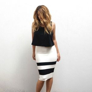 MISHA COLLECTION Skirts - White Pencil Skirt Set
